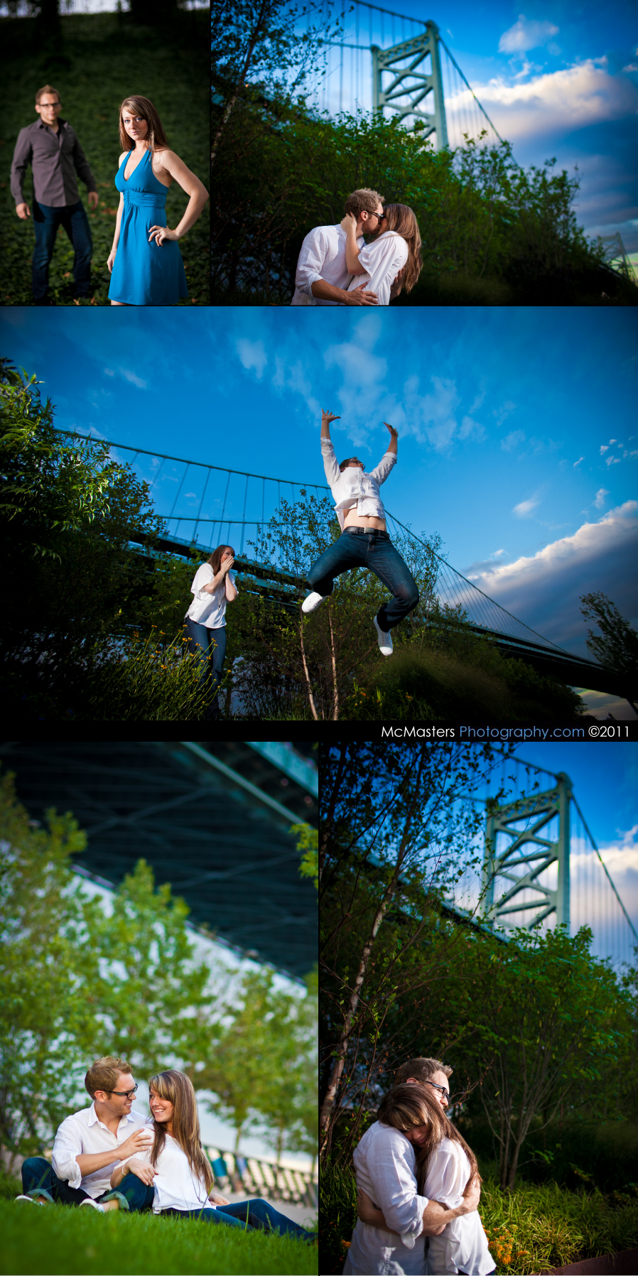 Ben Franklin Bridge Engagement session