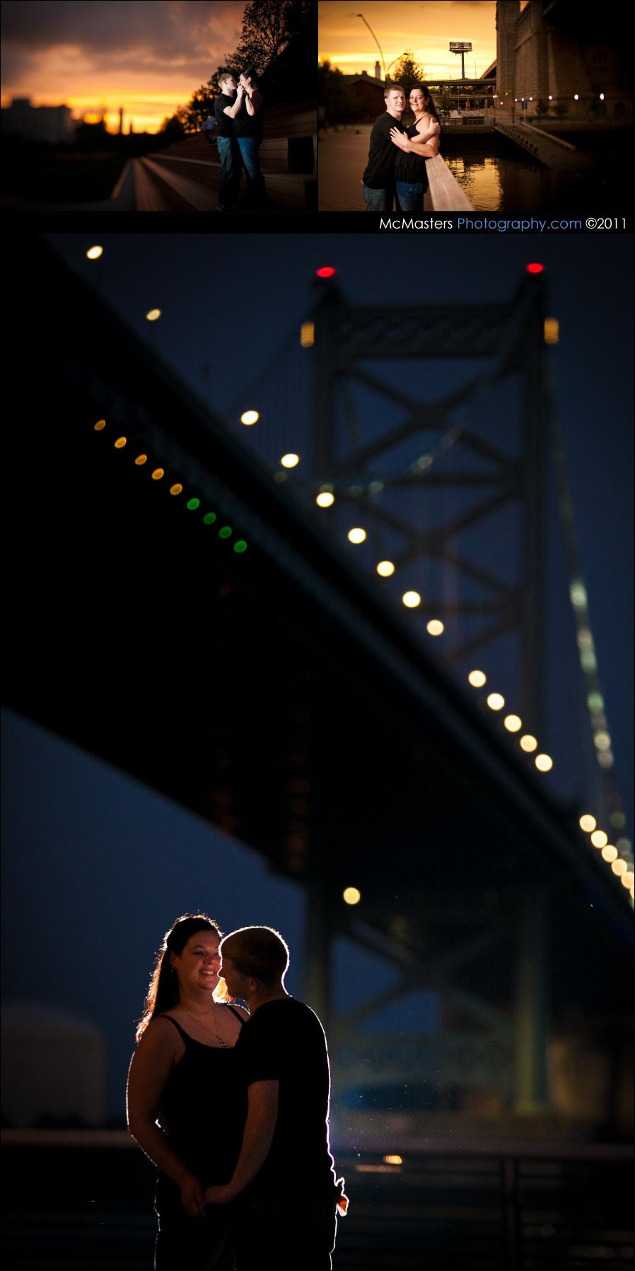 Race Street Pier wedding photos