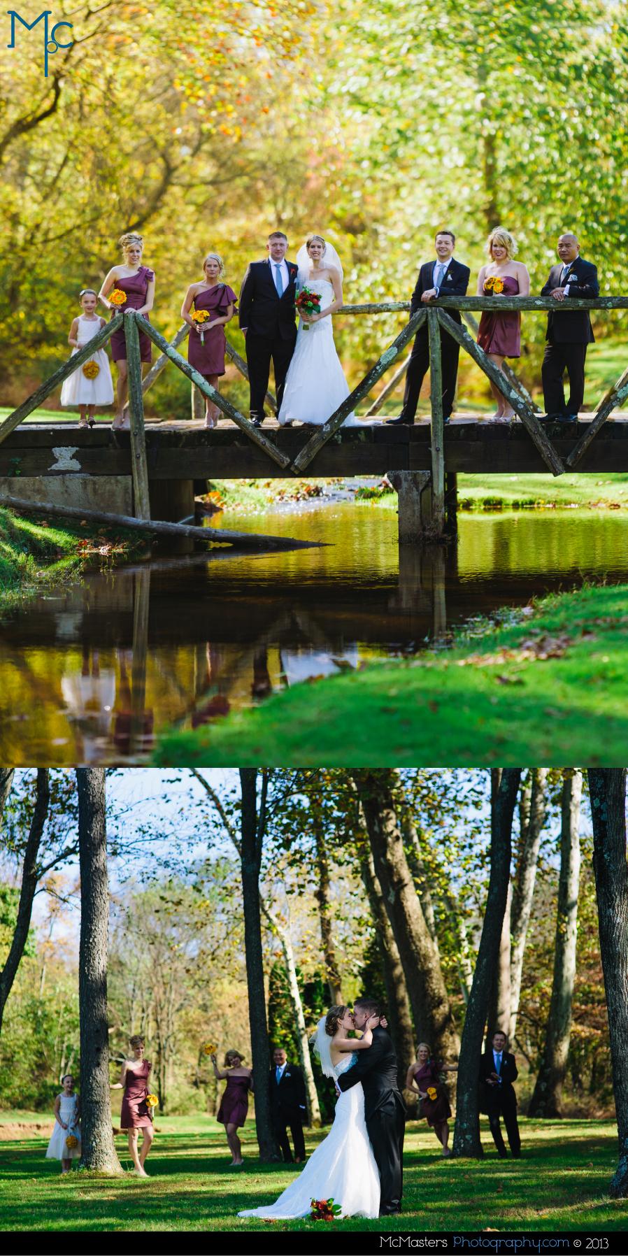 Barn on Bridge Wedding Photos
